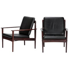 Pair of Grete Jalk Chairs Poul Jeppesen, 1960s