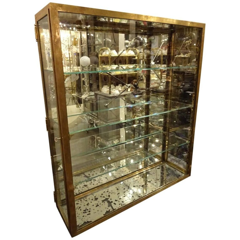 Early 20th Century Brass Display Cabinet