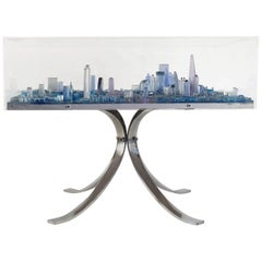 Fabulous London Coffee or Side Table by Grigoris Lagos, Molded Resin, 2015