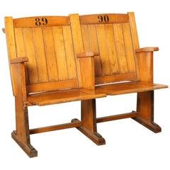 Cinema or Stadium Seats of Wood