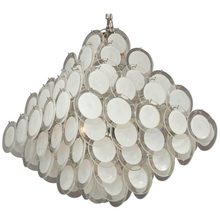 Murano Glass Disc Chandelier 1