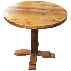 Customizable Reclaimed Pine Round Bistro Table