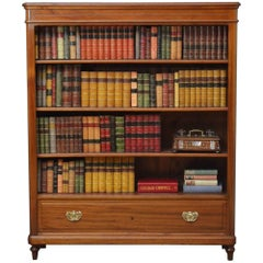 19th Century Open Bookcase in Mahogany
