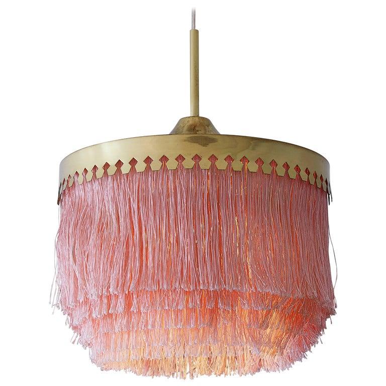 Hans-Agne Jakobsson Fringe Ceiling Lamp, 1960s For Sale