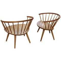 Yngve Ekström "Arka" Chair in Oak Designer Manufacturer, Stolfabriks AB