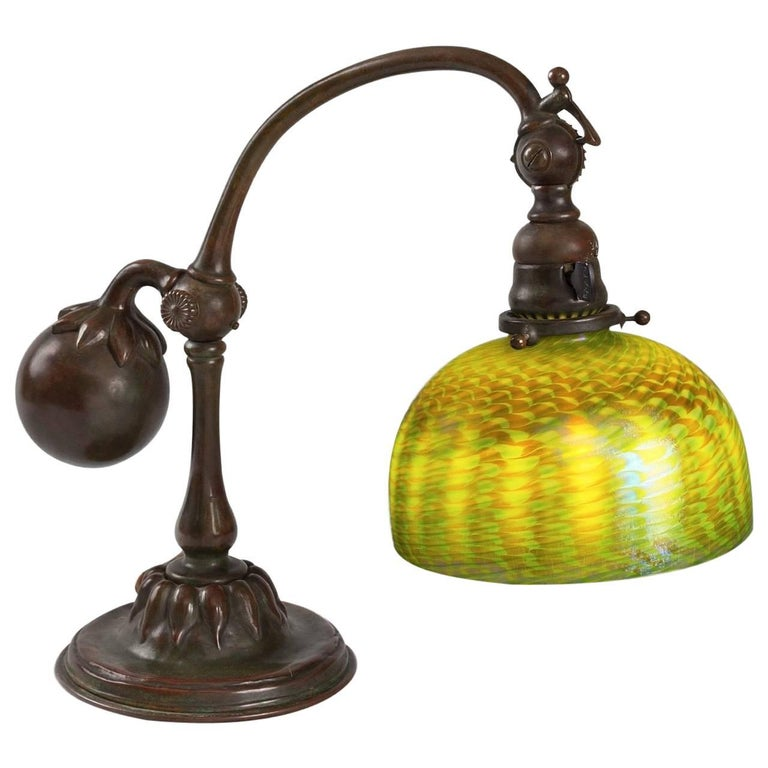 "Tiffany Studios New York ""Counter Balance"" Table Lamp For Sale"