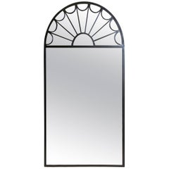 Original Yale R. Burge Wall Hung Iron Fanlight Style Mirror, 1983