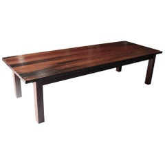 Ipe Wood Decking Plank Farm Table with Square Legs from the South Street Seaport