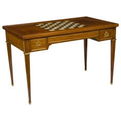 Louis XVI Ormolu-Mounted Mahogany Tric Trac Table