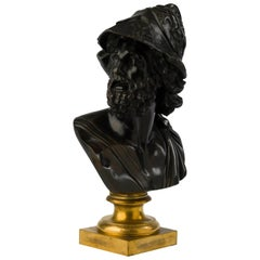 Louis XVI Gilt and Patinated Bronze Bust of Ajax