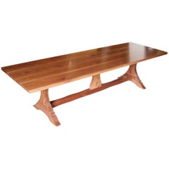 Walnut Trestle Farm Table