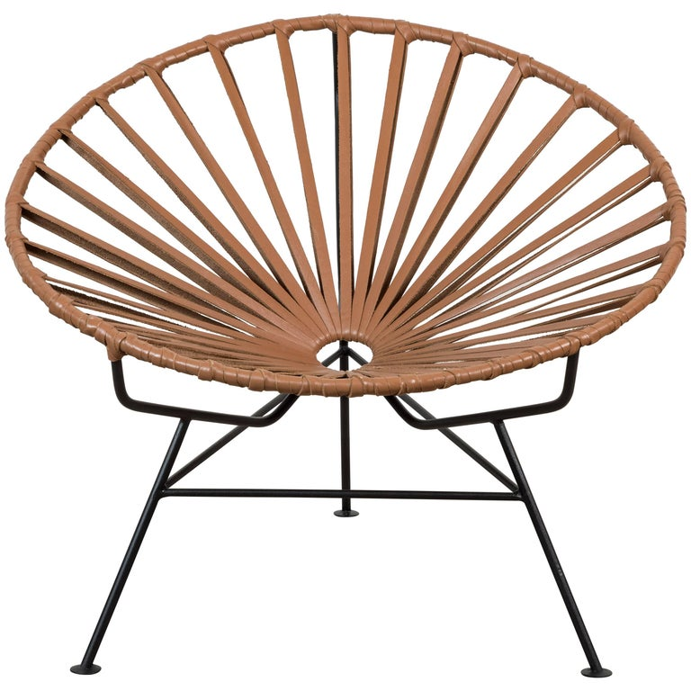 Sayulita Lounge Chair in Leather by Mexa For Sale