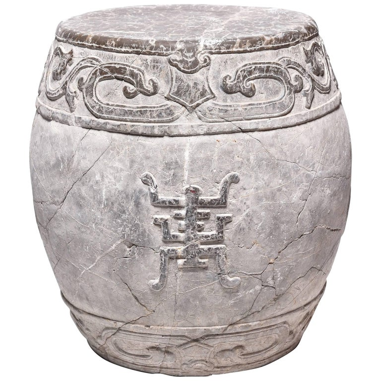 chinese trailing vine stone drum for sale at 1stdibs