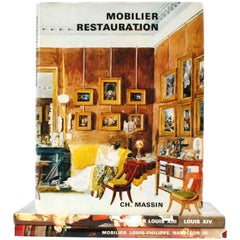 Set of Three Books on Different Periods of French Furniture Design by Mobilier