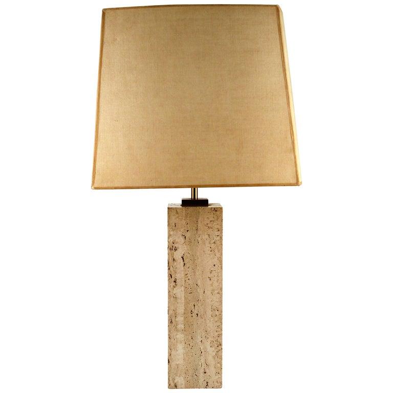 Travertine Table Lamp by Robsjohn-Gibbings