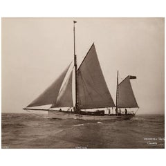Early Silver Gelatin Photographic Print by Beken of Cowes, Yacht Venora
