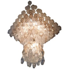 Spectacular Polyhedra Chandelier by Carlo Scarpa for Venini, 1960s