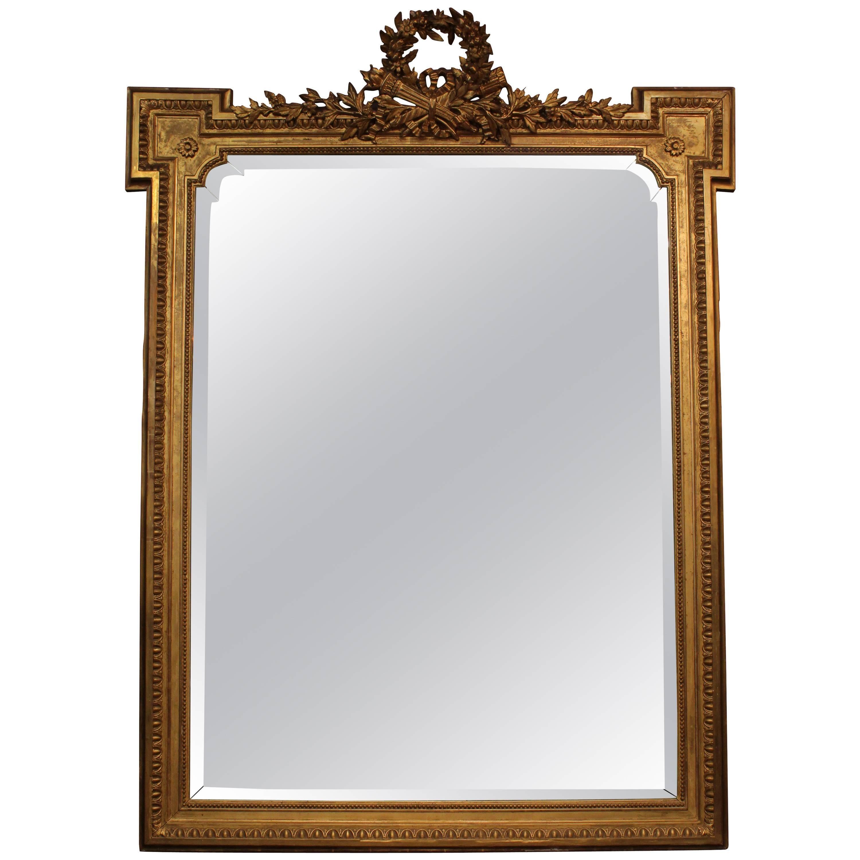 19th Century Giltwood Louis XVI Style Mirror