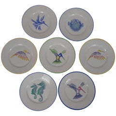 Set of Ten Limoges Painted Plates