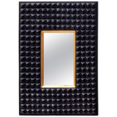 Ferrara Tribal Hydrocal Wall Mirror Designed by Miguel Oks and Jared Bark