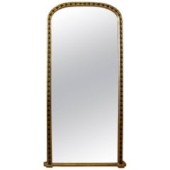 19th Century English Giltwood and Ebonized Hall / Dressing Mirror