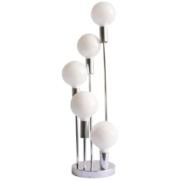 Mid-Century Modern Style Chrome Table Lamp