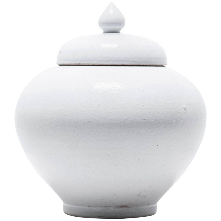 Chinese Tapered Cloud Jar with Lid For Sale