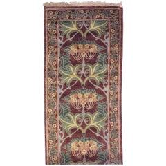 Maroon William Morris Art & Craft Design Runner