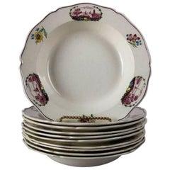"Set of Ten Antique English Wedgwood ""Claricy"" Porcelain Soup Bowls"