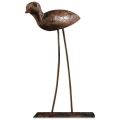 Early 20th Century French Songbird Working Decoy