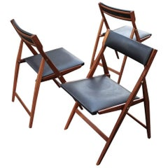 Gio Ponti a Set of Three Eden Folding Chairs, Model 320 , 1955