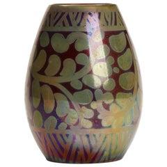Burmantofts Faience Lustre Foliage Vase Joseph Walmsley