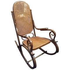 Thonet Bentwood Rocking Chair, Stamped, End of the 19th Century