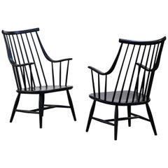 Pair of Lena Larsson Armchairs for Nesto Scandinavian