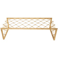 Style Jean Royère, Tour Eiffel Coffee Table, Gold-Plated Top, circa 2000, France