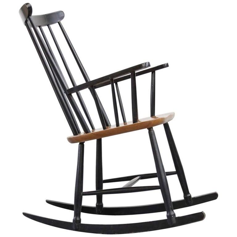 Rocking Chair Tapiovaara Model Fanett Scandinavian, 1960s For Sale