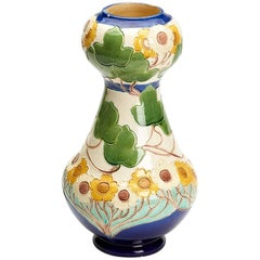Burmantofts Faience Partie-Colour Vase by Joseph Walmsley