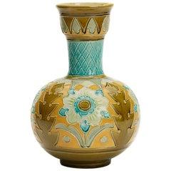 Burmantofts Faience Partie-Colour Vase by Joseph Walmsley