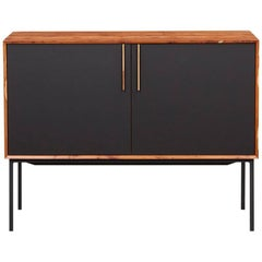 Contemporary Black HPL and Yew Sideboard by Johannes Hock
