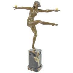 Art Deco Bronze Sculpture 'Balance' by Marcel Bouraine