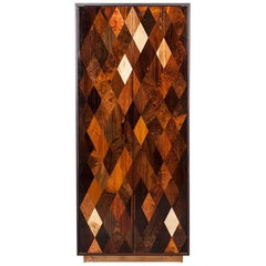 Contemporary Brown Wood and Rosewood Cabinet by Johannes Hock