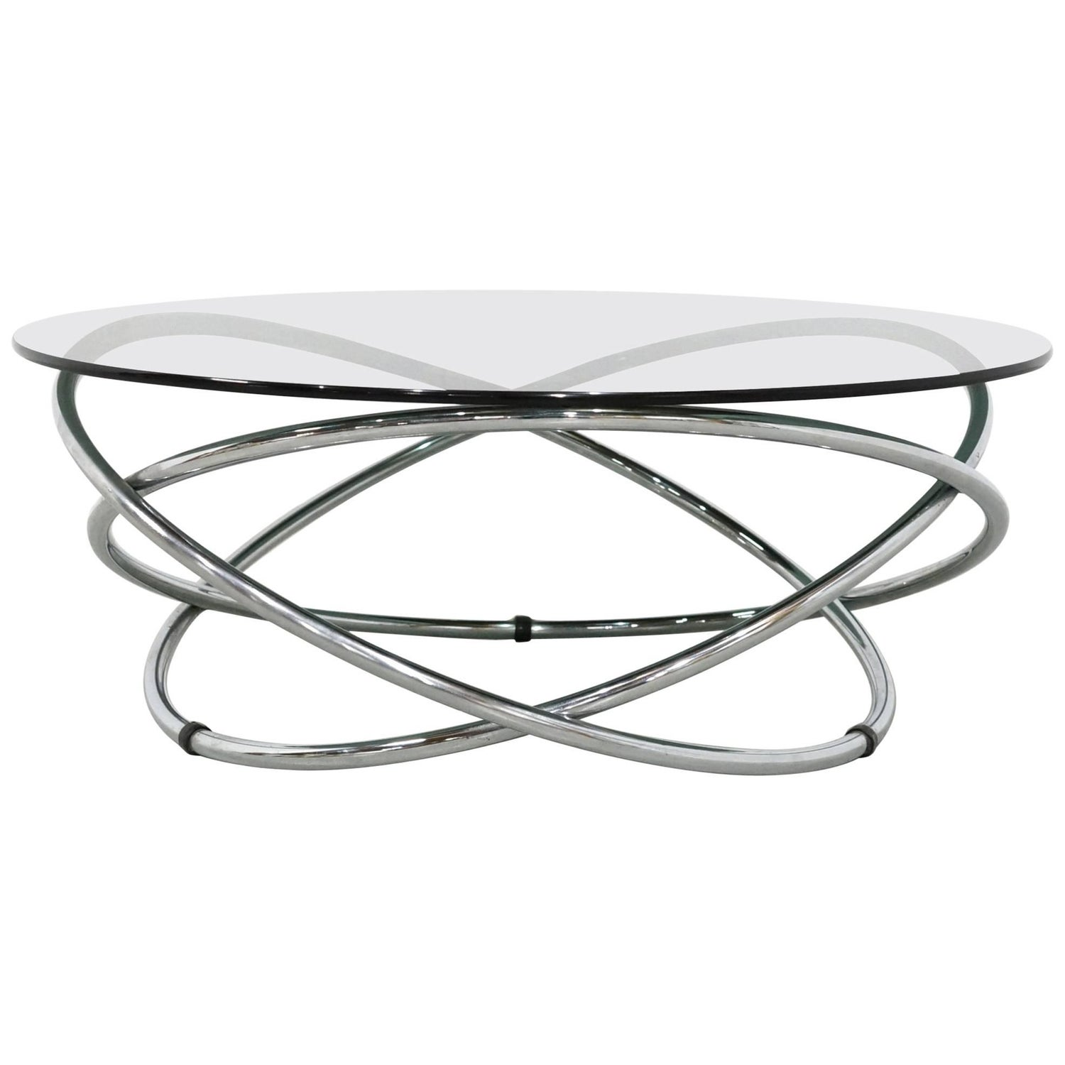 1960s Marble and Glass Coffee Table by Fournier Paris For Sale at