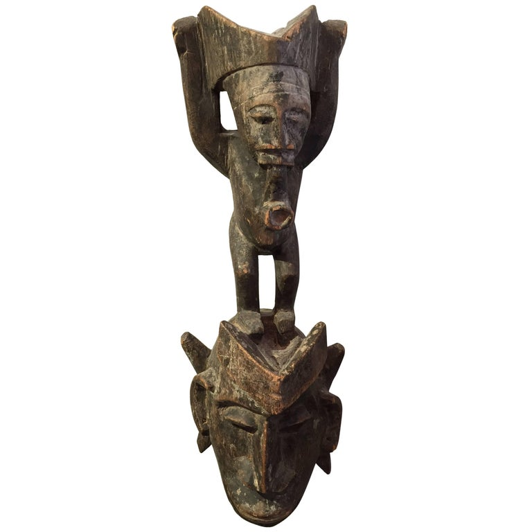 19th Century Central African Mask For Sale