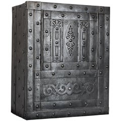Italian Hobnail Antique Safe