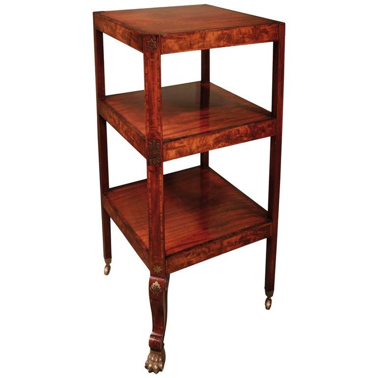 Regency period mahogany three-tier whatnot For Sale