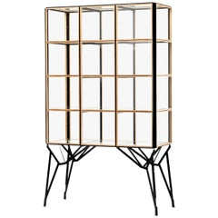 Blk Oak Showcase Cabinet by Paul Heijnen, Handmade in Netherlands