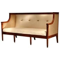 19th Century French Mahogany Sofa
