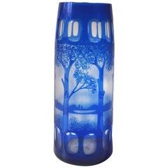 Kralik Bambus Art Glass Czech Art Deco Vase For Sale At 1stdibs