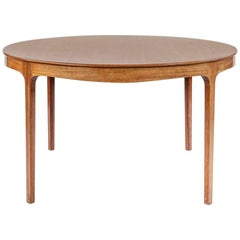 Ole Wanscher 1950s round coffee table in teak produced by A.J. Iversen