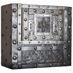 Early 19th Century Italian Antique Hobnail Safe